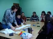 У Вінниці провели майстер-клас з виготовлення ляльки-мотанки для студентів з порушенням слуху