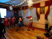 Діти зі спортивних шкіл Вінниці вітали зі Святим Миколая вихованців обласного реабілітаційного центру