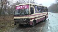 """Вчора в Гайсинському районі рейсовий автобус """"Умань-Вінниця"""" в'їхав у вантажівку"""