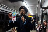 Відбулись перші веселі подорожі у новорічному трамвайчику «VinWay»