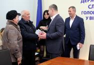 Керівники фіскальної служби Вінниччини привітали родини бійців АТО