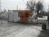 Вчора на вул. Чехова військовослужбовці повалили тролейбусну опору