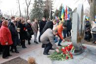 Фоторепортаж з покладання квітів з нагоди Дня вшанування пам'яті Героїв Небесної Сотні