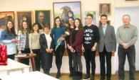 В одній з бібліотек міста відкрилася виставка молодої вінницької художниці Ганни Борачук «Погляд»