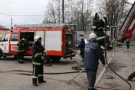 Вінницькі рятувальники гасили умовну пожежу в готелі Південний Буг