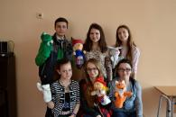 Діти з центру соціальної реабілітації «Промінь» взяли участь у ляльковій виставі