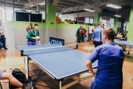 У турнірі з настільного тенісу перемогу здобули Ігор Бєляєв, Дмитро Поліщук та Владислав Загробський