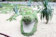 У Вінниці вже оновили три 3D-клумби: черепаху, автомобіль та крокодила