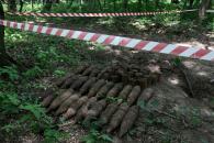 В лісі поблизу вулиці Сергія Зулінського виявили арсенал боєприпасів