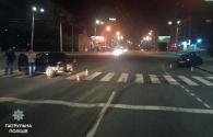Вночі на вул. Київській п'яний водій, тікаючи від патрульних, скоїв ДТП