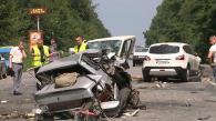 На об'їзній дорозі м. Вінниці зіткнулись чотири машини. Постраждали 10 людей