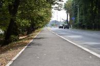 Поблизу 25-ї школи на проспекті Юності та по вулиці Князів Коріатовичів триває ремонт тротуару