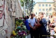 """В Могилів-Подільскому відкрили меморіал пам'яті полеглим бійцям  """"Площа героїв"""""""
