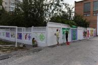 """За підтримки компанії """"Авалон-5"""" майданчик біля 26-ї школи прикрашають національними символами-оберегами"""