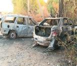 """Неподалік Вінниці невідомі спровокували ДТП, через яке загорівся """"Мерседес"""" та вистрілили у водія"""