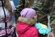 """Вінничани зустріли бійців спецбатальйону """"Вінниця"""", які упродовж двох місяців несли службу у зоні АТО"""