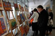 Виставка робіт учнів Дитячої школи мистецтв «Осінній вернісаж» відкрилась у «Прозорому офісі»