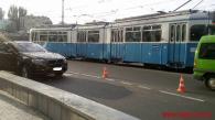Біля центрального парку зіткнулися позашляховик BMW X6 та маршрутний автобус