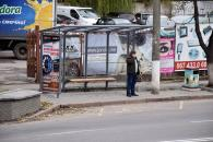 По Хмельницькому шосе встановили шість зупинок громадського транспорту