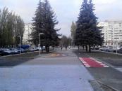 У Вінниці з'явився підвищений пішохідний перехід
