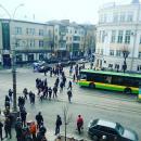 Вінницькі мітингувальники відчули азарт протестів, що викликало транспортний колапс у місті