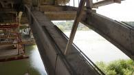На Київському мосту підсилюють  колони та розпочали бетонувати арки