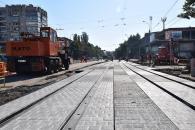 На проспекті Космонавтів завершується реконструкція трамвайної колії
