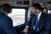 Прем'єр з головою ДСНС оглянули з повітря територію Калинівки та околиць