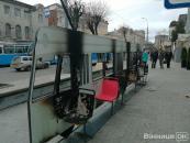 """Угрупування """"Фемен"""" на жаль дісталося до Вінниці - спалили трамвай"""