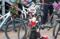 Велоактивісти  привітали вінничан з новорічними та різдвяними святами парадом Дідоморозів