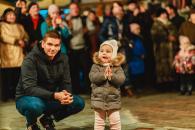 У Вінниці встановили триметрового Різдвяного Дідуха