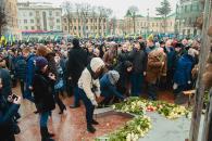 """У Вінниці на честь Небесної Сотні """"розквітнуло"""" бронзове «Дерево Свободи»"""