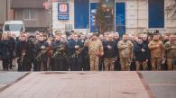 Фоторепортаж з покладання квітів з нагоди Дня добровольця у Вінниці