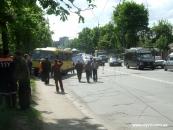 Маршрутка знесла тролейбусну опору. Постраждало три особи (фото)