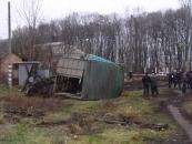 У Козятинському районі сталося зіткнення МАЗу та пасажирського потягу