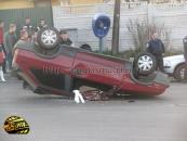 У Вінниці водій, намагаючись уникнути зіткнення з Шевроле, перевернув свій ВАЗ