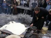 Як у Вінниці на Масляну пекли млинець діаметром у 1,5 метра