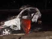 ДТП у Вінниці: Мерседес знищив KIA та збив жінку пішохода