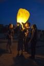 """Вчора на Вишенському озері запускали """"небесні ліхтарики"""""""