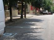 Вперше у Вінниці з'явились паркувальні майданчики з спеціальною розміткою