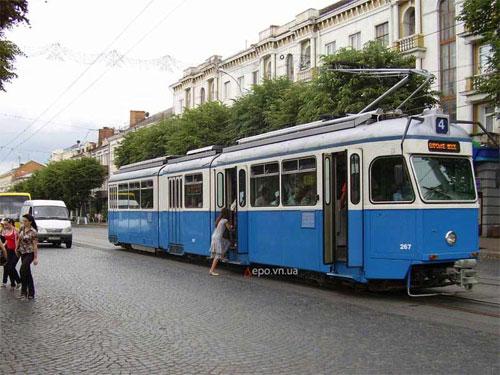 швейцарські трамваї у Вінниці