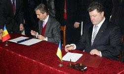 Міністр закордонних справ України П.Порошенко та Віце-прем'єр-міністр, Міністр закордонних справ та європейської інтеграції Республіки Молдова Ю.Лянке