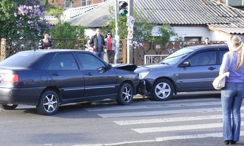 Столкновение на пешеходном переходе