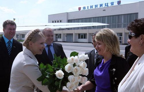 Сьогодні у Вінниці побувала Юлія Тимошенко
