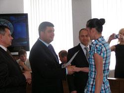 Міський голова Володимир Гройсман привітав призерів із спортивними здобутками