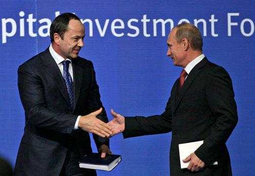Сергей Тигипко и Владимир Путин