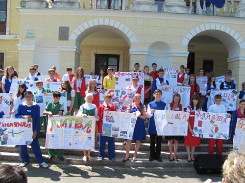 Вперше відсвяткували дні Європи у смт. Вороновиця та м. Липовець