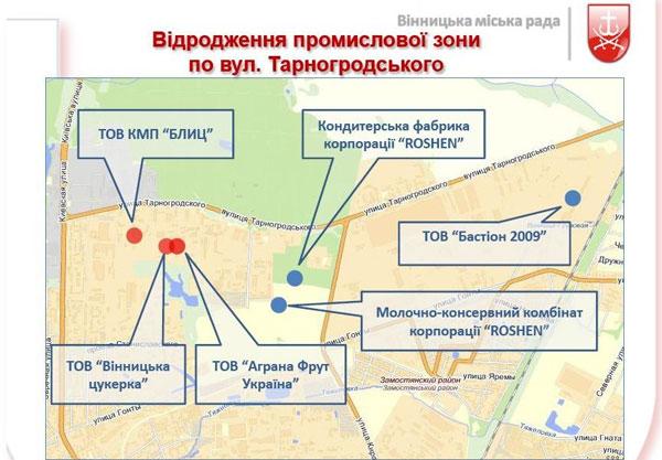 промислова зона на Тарногородського