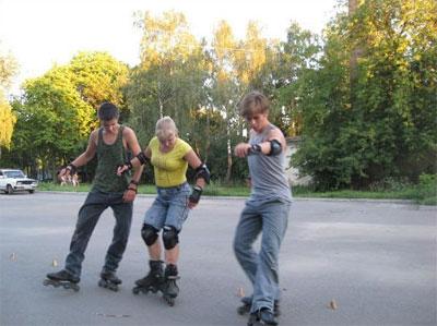 скейт-слалом