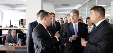 Вінницький «Прозорий офіс» відвідав Віктор Ющенко